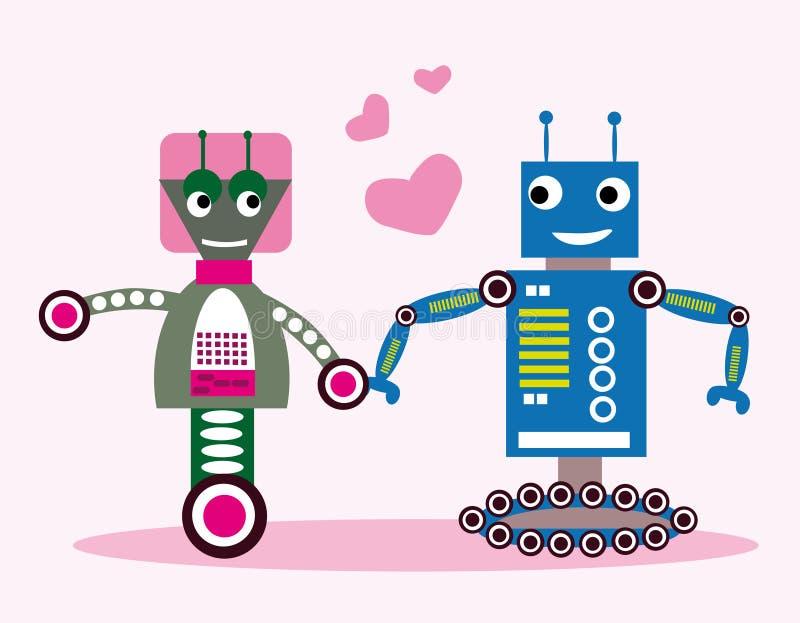 Roboty w miłości royalty ilustracja