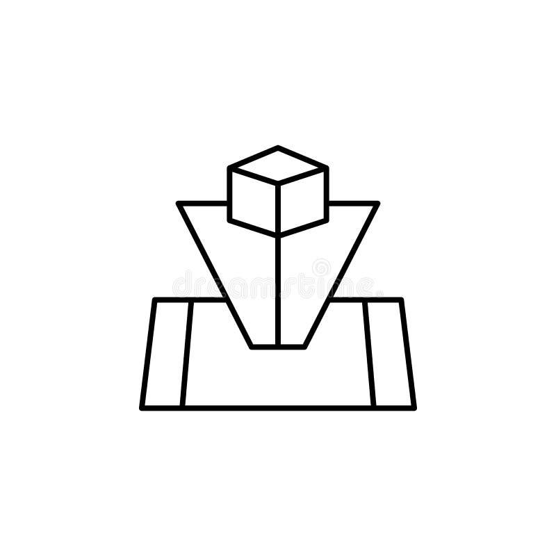 Robotyka holograma konturu ikona Znaki i symbole mogą używać dla sieci, logo, mobilny app, UI, UX royalty ilustracja