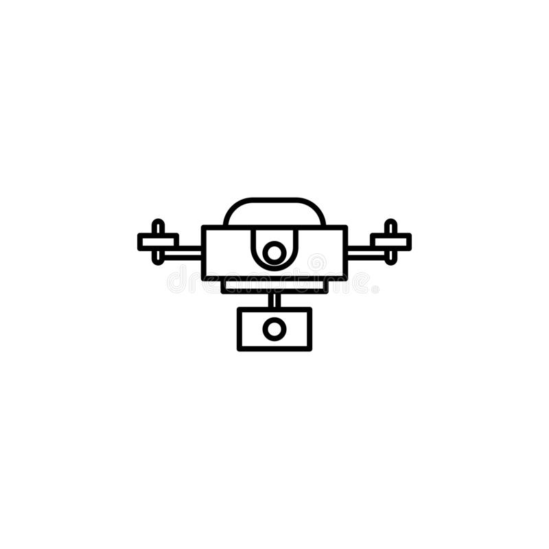 Robotyka trutnia konturu ikona Znaki i symbole mogą używać dla sieci, logo, mobilny app, UI, UX royalty ilustracja
