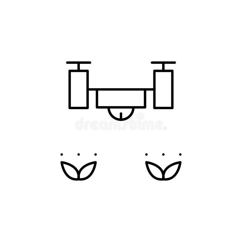 Robotyka trutnia ziele konturu ikona Znaki i symbole mogą używać dla sieci, logo, mobilny app, UI, UX ilustracja wektor