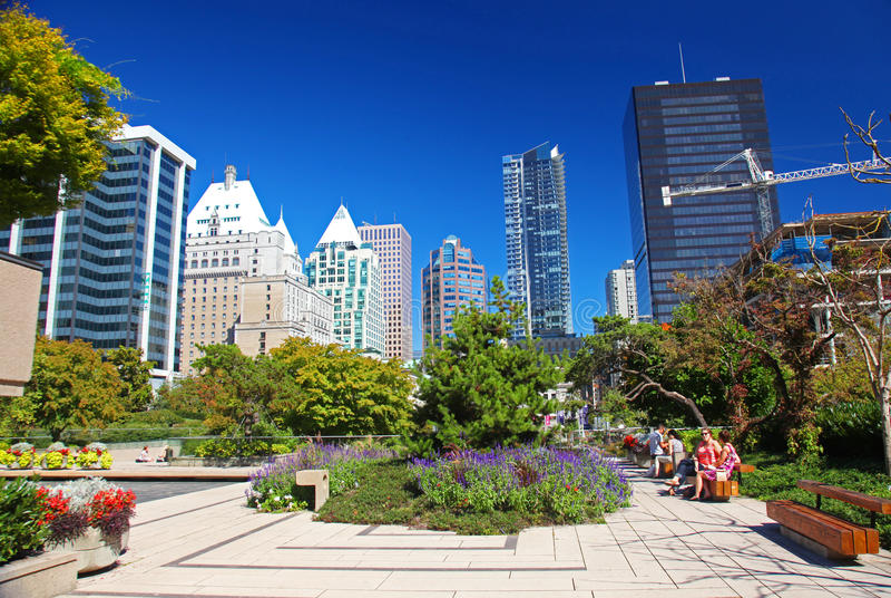 Robson kwadrat w w centrum Vancouver zdjęcie stock