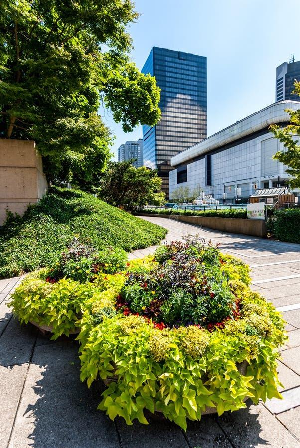 Robson kwadrat w w centrum Vancouver zdjęcie royalty free
