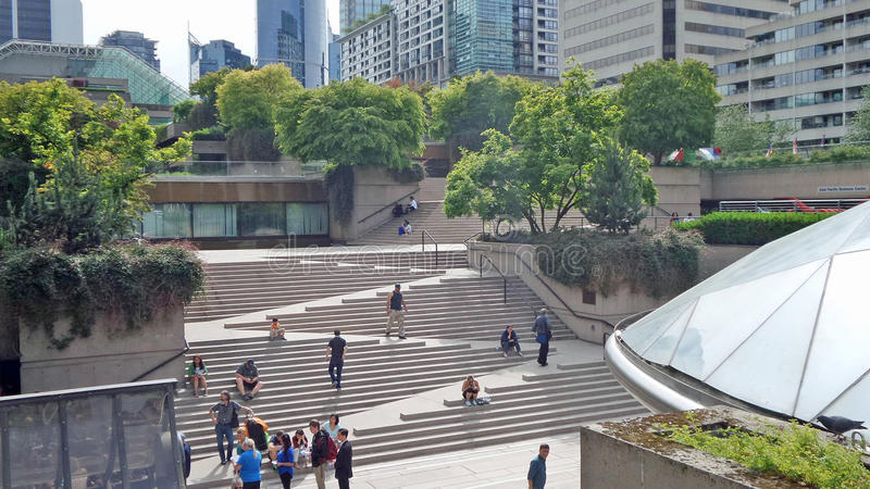 Robson Square fotografia de stock royalty free