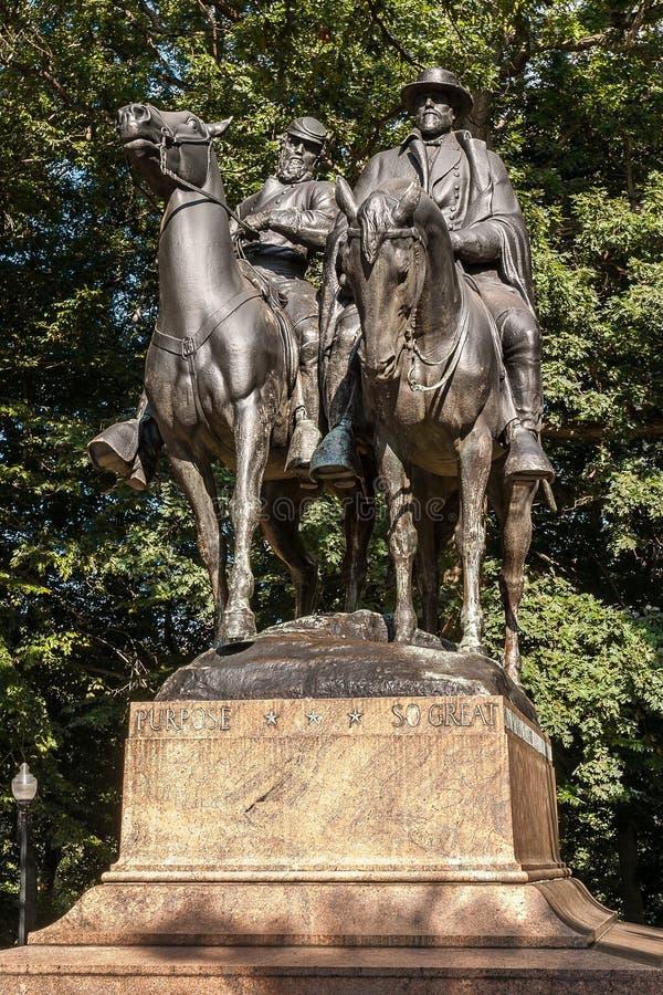 robt e Monumento do Lee & do Stonewall Jackson imagem de stock