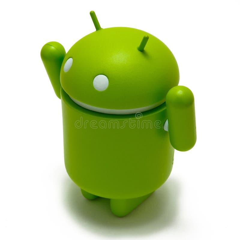 Robusteza androide victoriosa fotos de archivo