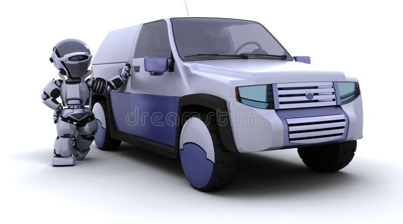 Robusteza con el coche del concepto de SUV ilustración del vector