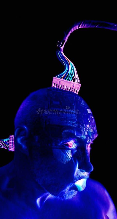Robusteza del ser humano del Cyborg foto de archivo libre de regalías