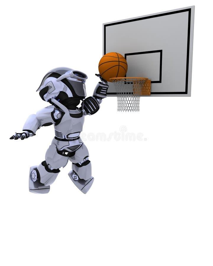 Robusteza que juega a baloncesto stock de ilustración