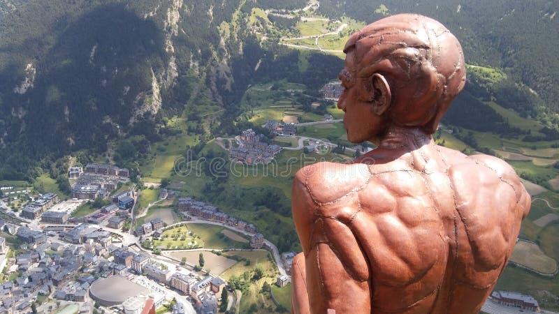 Roc del Quer, Andorra, am 11. Juli 2018: Der Denker stockfotos