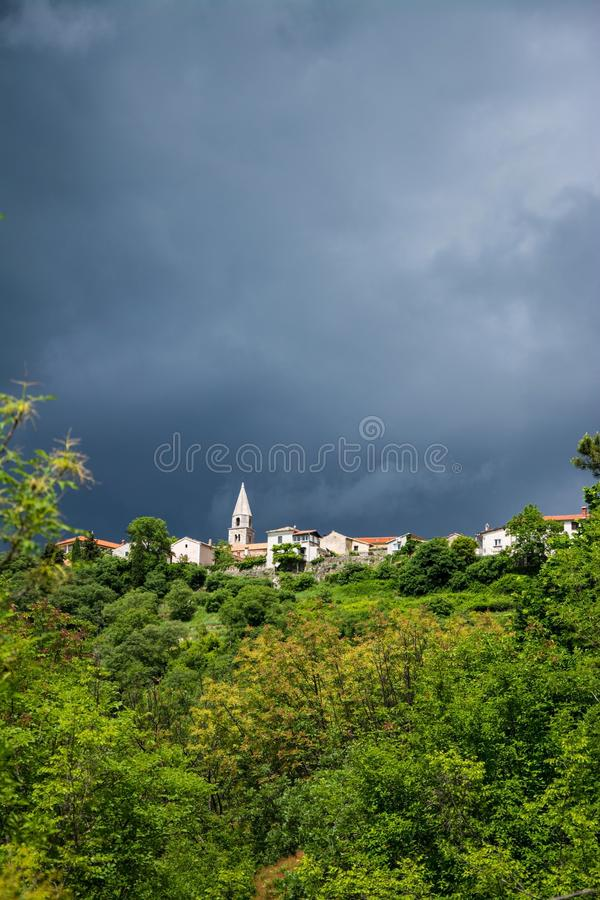 Roc, Istria, Croatie photos libres de droits