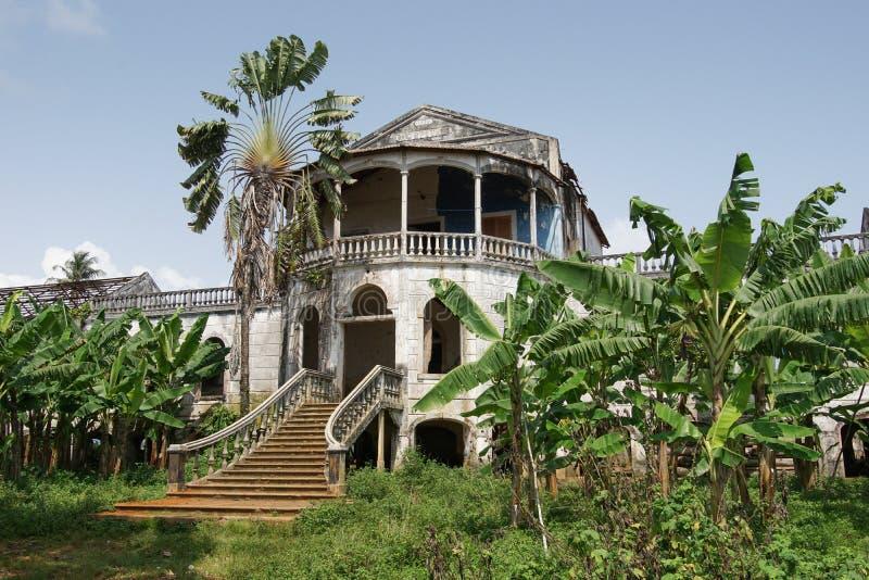Roca Agua Ize, Sao Tome, Afrika arkivbild