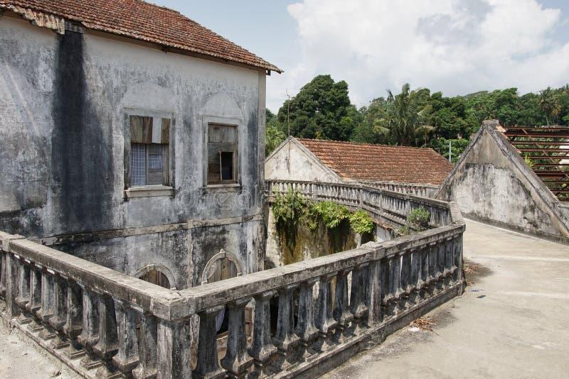 Roca Agua Ize, Sao Tome, Afrika royaltyfria bilder