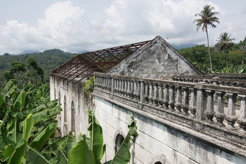 Roca Agua Ize, Sao Tome, Afrika royaltyfri fotografi