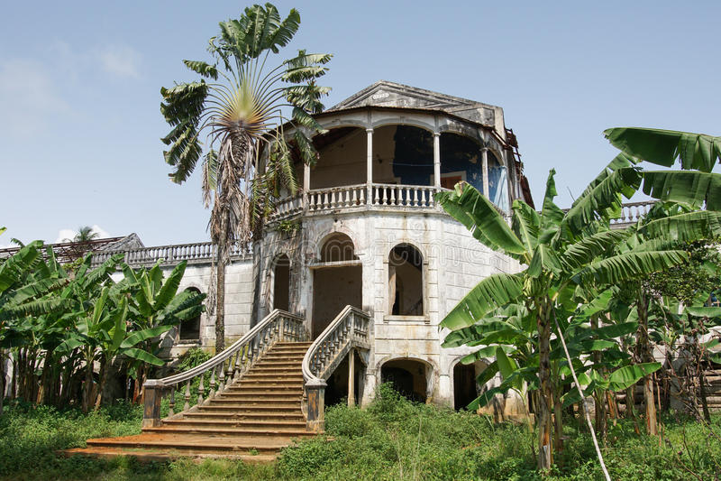Roca Agua Ize, Sao Tome, Afrika royaltyfria foton