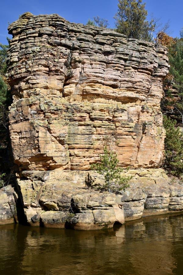 Roca cambriana de la piedra arenisca imágenes de archivo libres de regalías