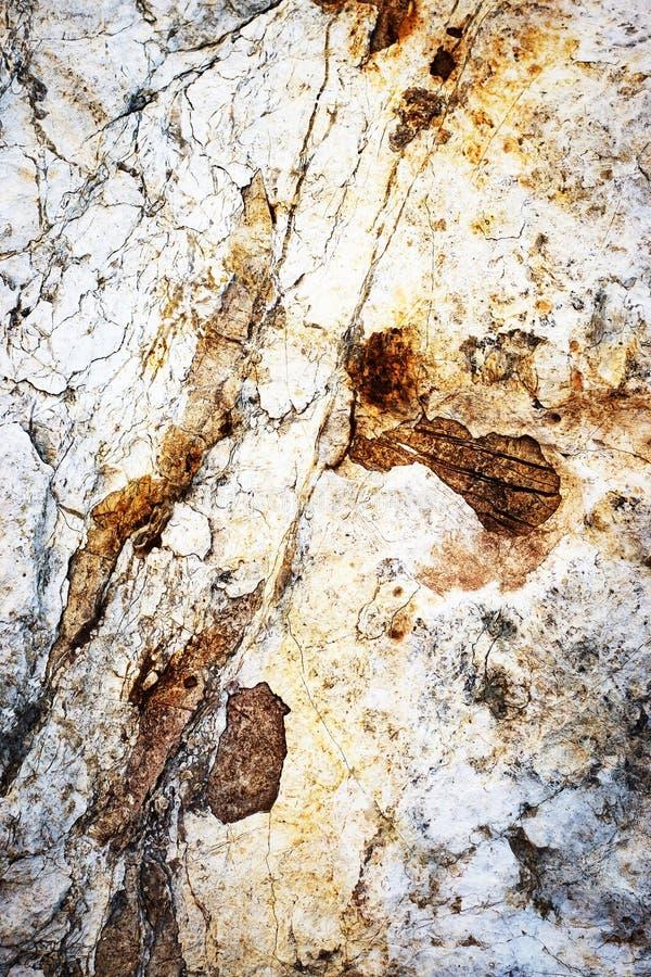 Roca coloreada moho de la piedra caliza foto de archivo libre de regalías