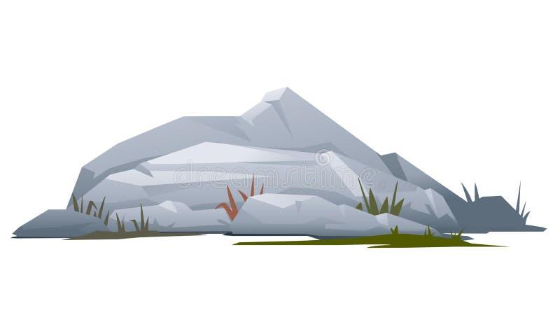 Roca con las piedras ilustración del vector