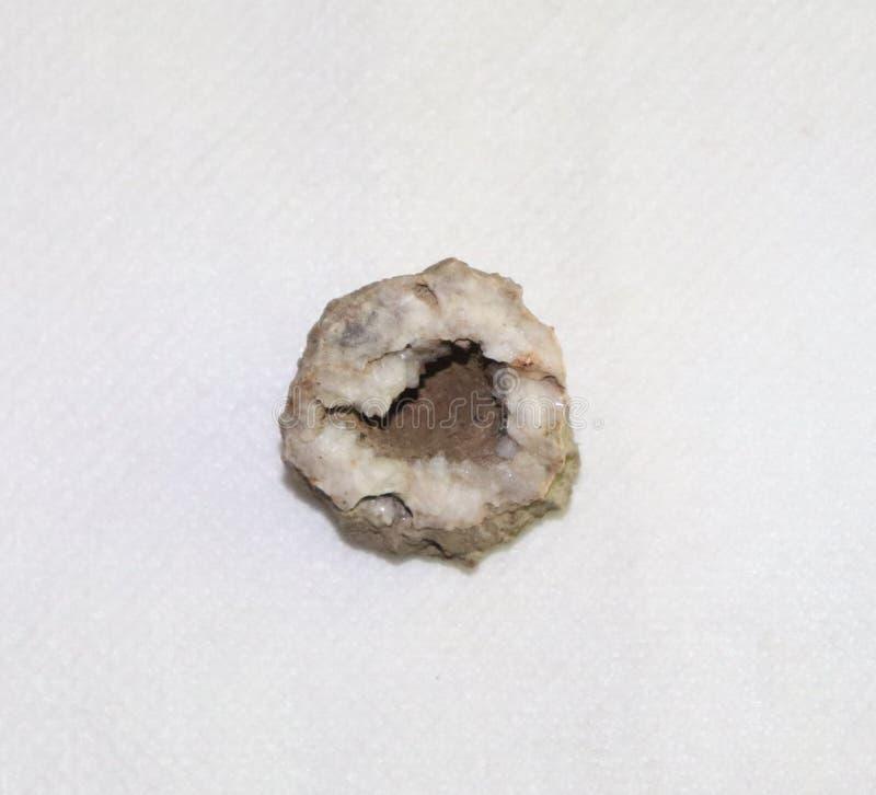 Roca, cuarzo, cristal, blanco, Brown foto de archivo