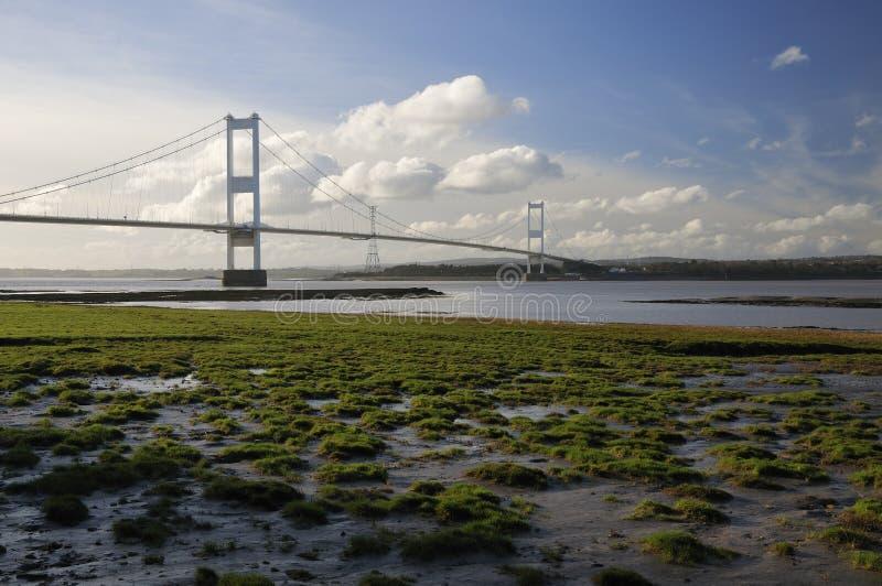 Roca de Aust y el puente de Severn fotos de archivo libres de regalías