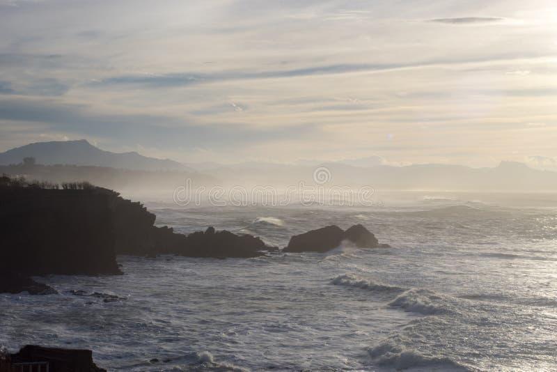 Roca de Biarritz imagen de archivo libre de regalías