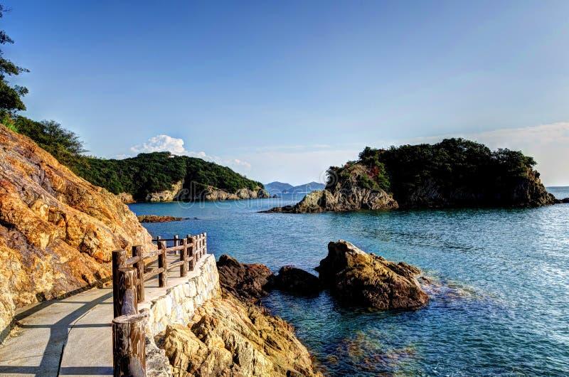 Roca de cinco colores de Sensuijima. fotos de archivo libres de regalías