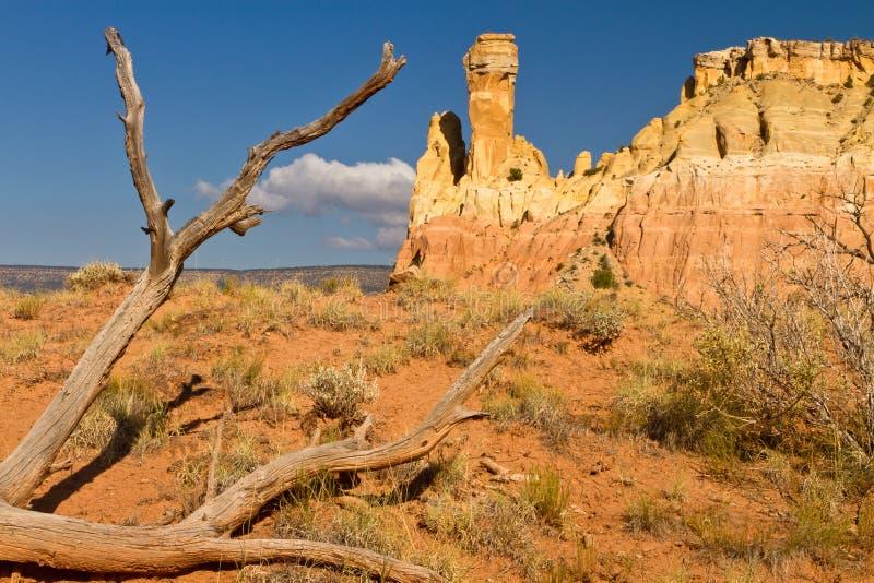 Roca de la chimenea, formación de roca de New México foto de archivo