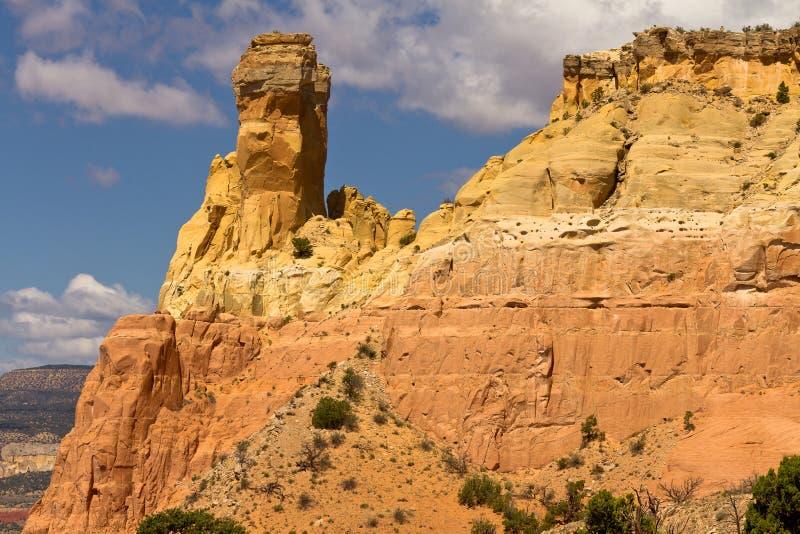 Roca de la chimenea, formación de roca de New México imagenes de archivo
