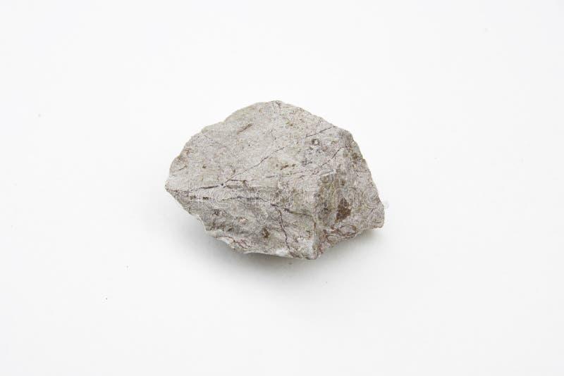 Roca de la marga sobre blanco fotos de archivo libres de regalías