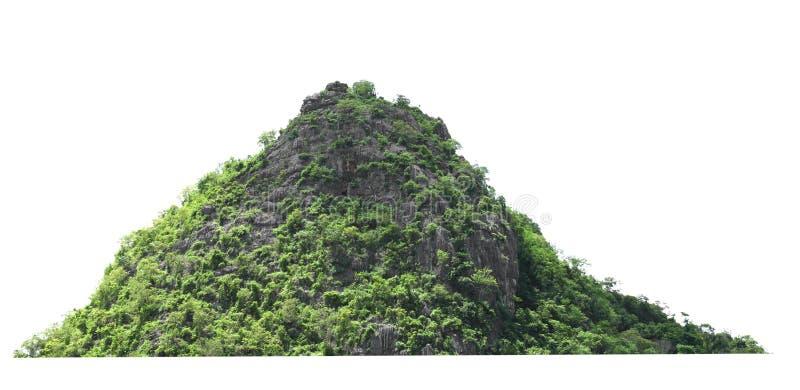 roca de la montaña con el bosque en el aislante de Tailandia en el fondo blanco fotografía de archivo libre de regalías