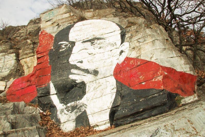 Roca de Lenins, montaña de Mashuk, Pyatigorsk, Federación Rusa imagen de archivo libre de regalías