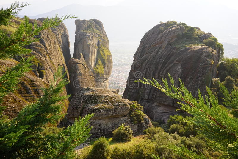 Roca de Meteora imagenes de archivo
