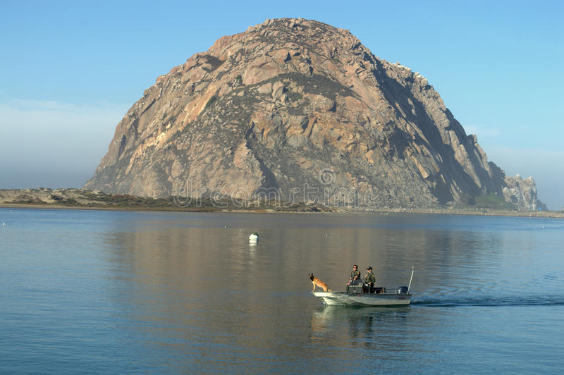 Roca de Morro en California foto de archivo