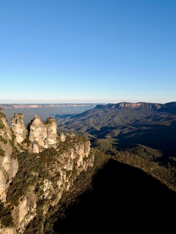 Roca de tres hermanas en las montañas azules Australia fotos de archivo libres de regalías