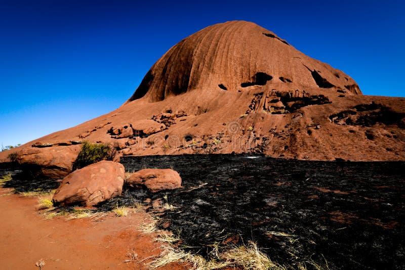 Roca de Uluru - de Ayers foto de archivo