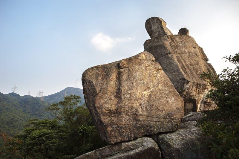 Roca del Amah en el parque del país de Lion Rock, Hong Kong fotos de archivo libres de regalías