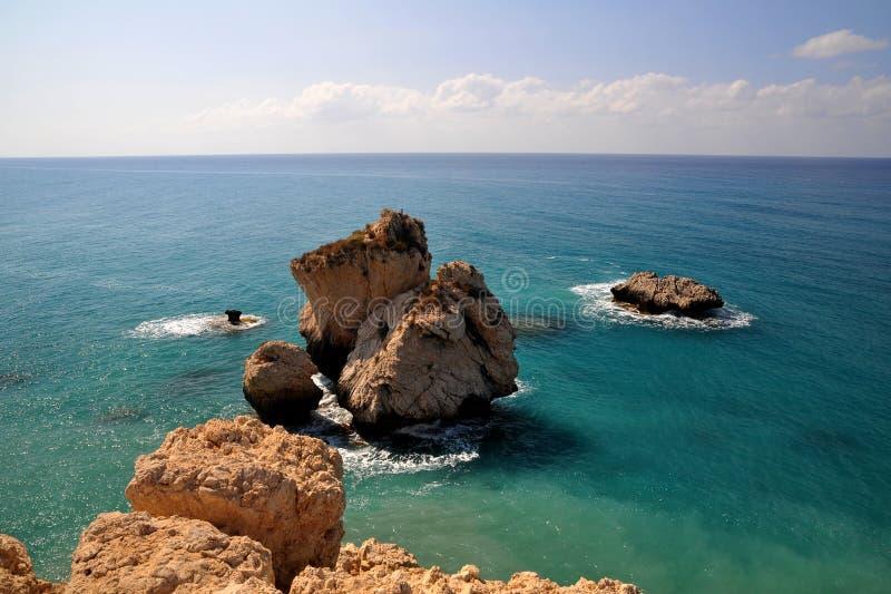 Roca del Aphrodite, Chipre. fotografía de archivo