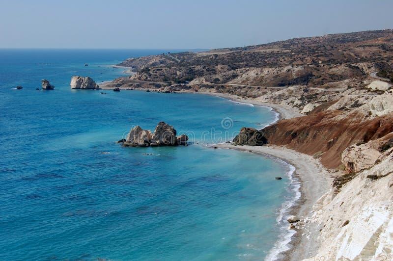 Roca del Aphrodite en Chipre fotos de archivo libres de regalías