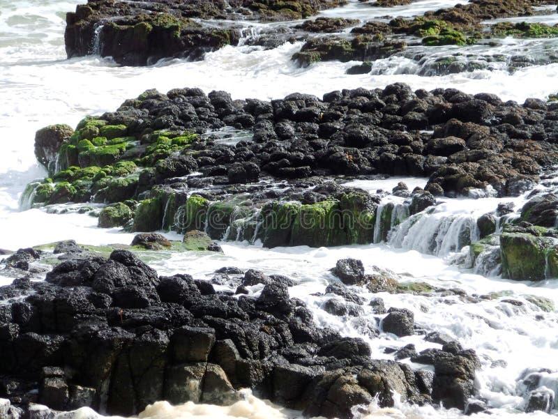 Roca del basalto, Bunbury, Australia occidental fotografía de archivo libre de regalías