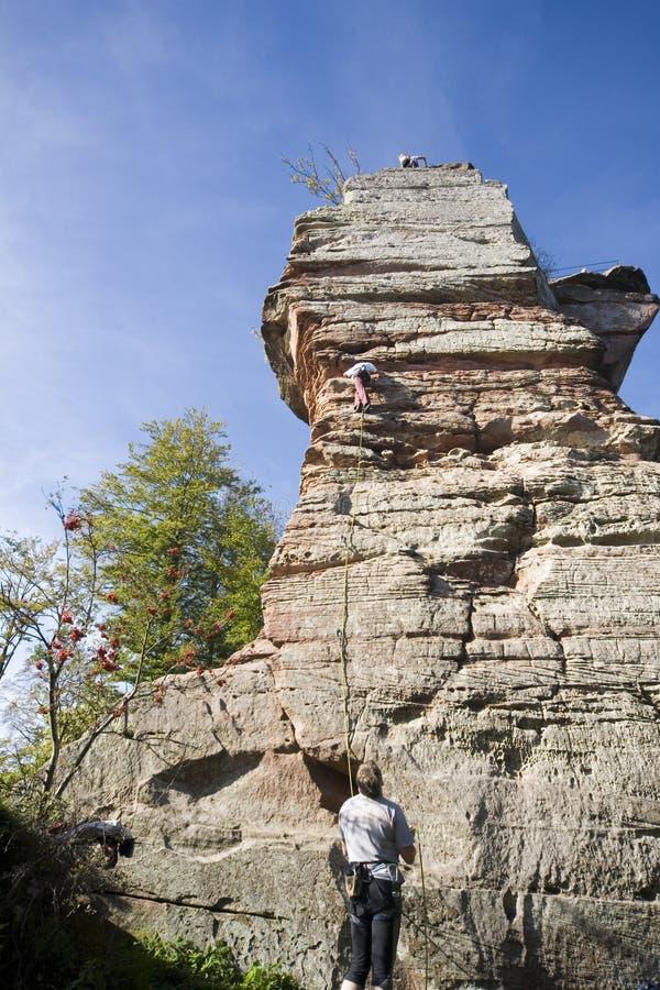 Roca del escalador fotos de archivo