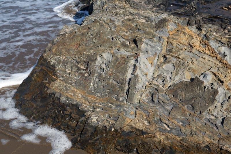 Roca del mar imagen de archivo