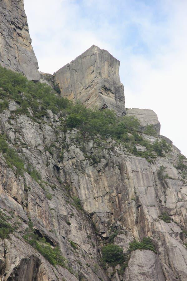 Roca del púlpito fotografía de archivo