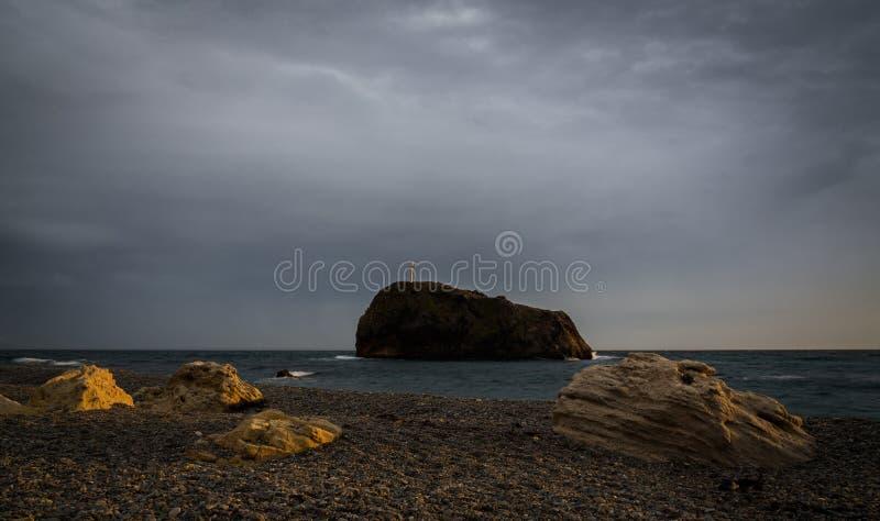Roca del ` s de San Jorge, Jasper Beach, cabo Fiolent fotos de archivo libres de regalías