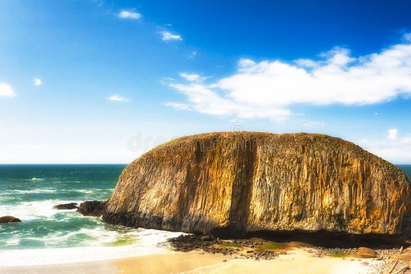 Roca del sello en la costa de Oregon imagen de archivo libre de regalías