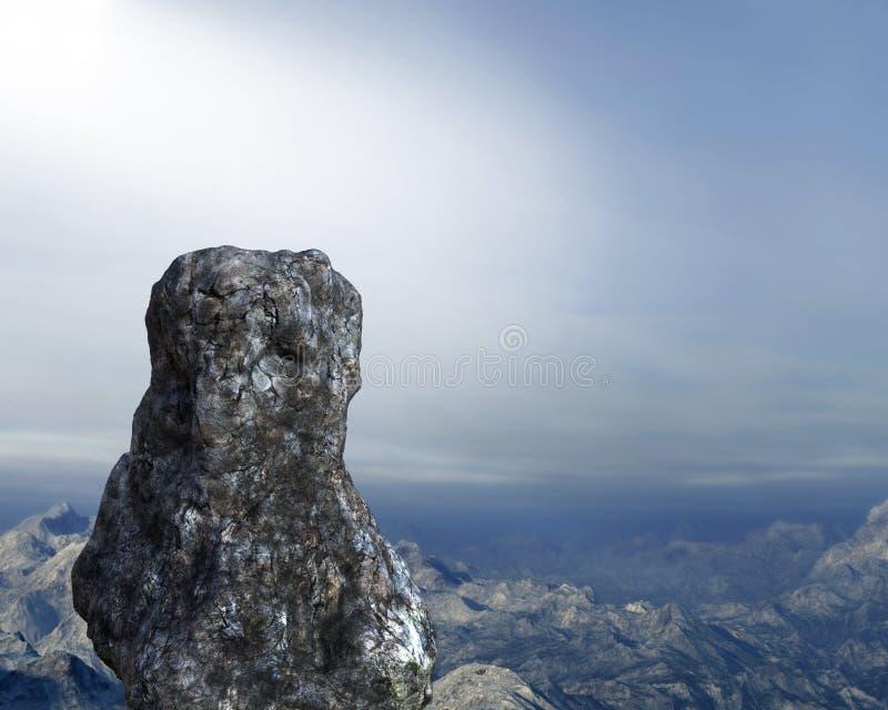 Roca derecha, fondo del punto de la inspiración imagen de archivo