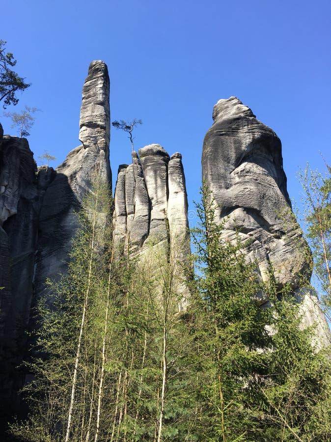 Roca en Adrspach fotos de archivo libres de regalías