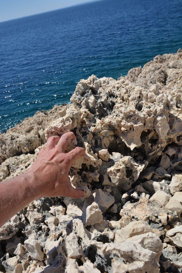 Roca en Croacia foto de archivo libre de regalías