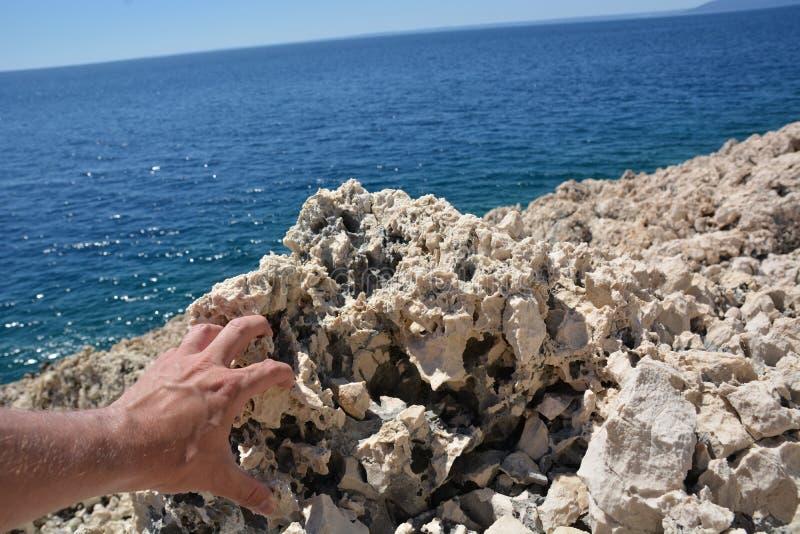 Roca en Croacia imagen de archivo libre de regalías