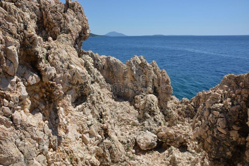 Roca en Croacia fotografía de archivo libre de regalías