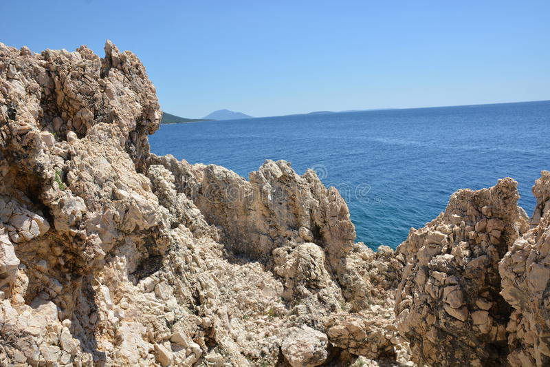 Roca en Croacia fotos de archivo