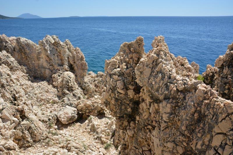 Roca en Croacia foto de archivo
